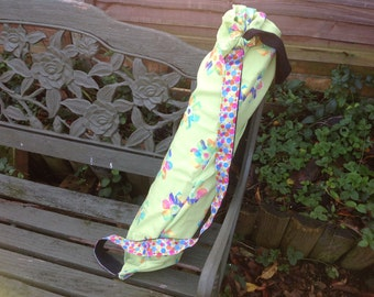 OOAK upcycled Yoga/ Pilates mat bag