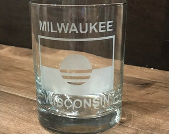 Milwaukee People's Flag, Milwaukee Gift, The People's Flag, Etched Glass, MKE, Wisconsin Gift