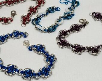 Chain Maille Swirl Bracelets chain Link Bracelet