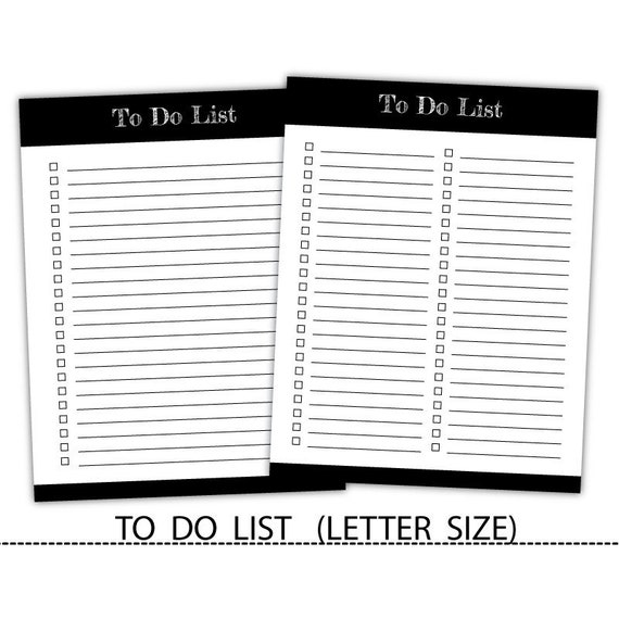 Editable To Do Planner Agenda TrackerTo List Printable