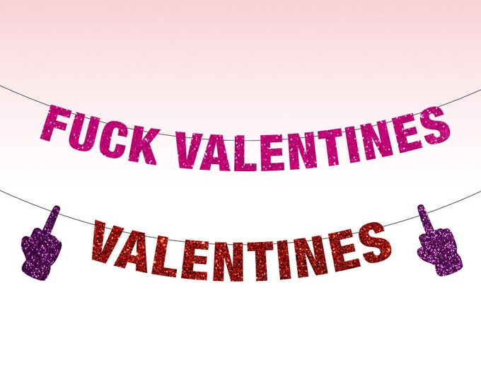 Fuck Valentine's Day Banner, Fuck Valentine's, Anti Valentines Day, Anti Valentine, Love Stinks, Funny Valentines Day Decor, Single AF