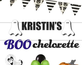 Custom bachelorette banner, BOOchelorette ghost banner, custom party decor ideas, bridal party banner, Halloween Vampire Straws for adults