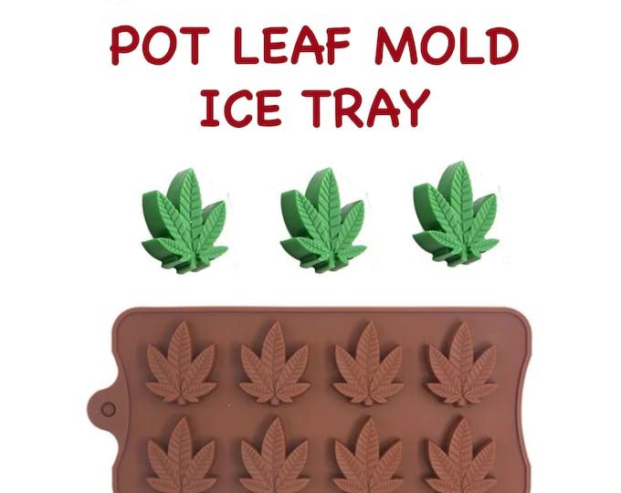 Marijuana Cannabis Mold, Silicone Hemp Mold, Candy, Weed, Gummy, Pot, Resin Mold, Ice Tray