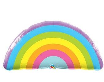 Pastel Rainbow balloon, Pride Balloon, HUGE foil rainbow balloon, gay party decor, gay pride balloon