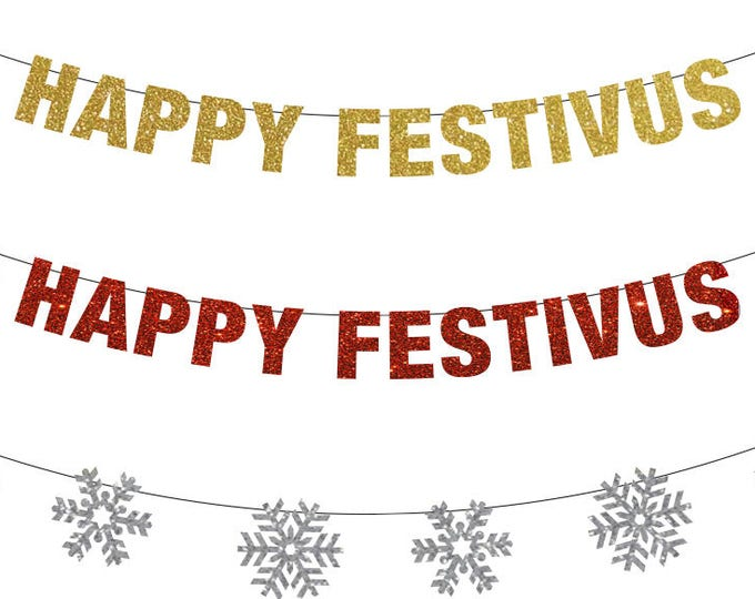 Happy Festivus Banner, Christmas Banner, Festivus Banner, Seinfeld, Christmas Decor, Funny Christmas Banner, Party Ideas, Holiday Door Kit