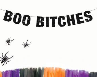 Boo Bitches Banner, Halloween Banner, Halloween Party, Naughty Halloween Party, Boo Banner, Boob Banner, Lesbian Halloween Party