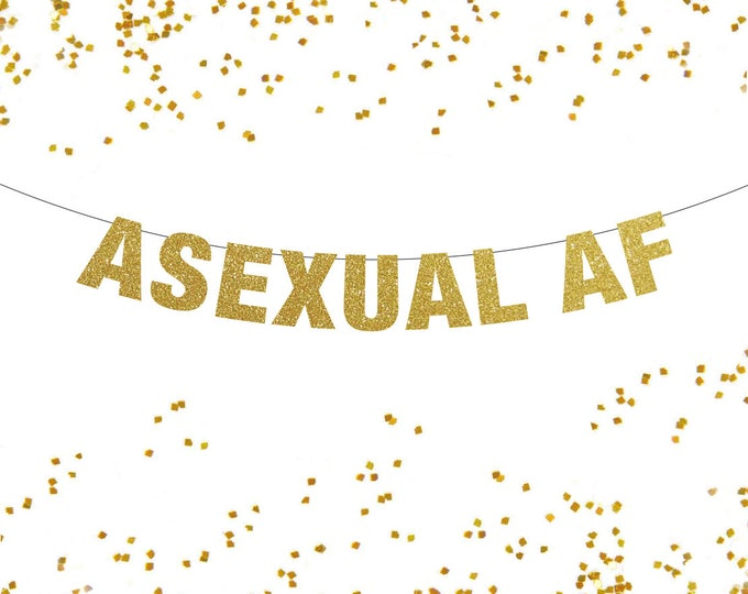 Asexual AF Banner, Asexual Banner, Asexual Pride Banner, Pride Banner, Sexual Orientation Banner, Sexual pride banner, Pride