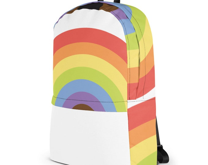 Rainbow Lover Backpack Rainbow Gift, Computer, Tablet & Laptop Carrier, LGBTQA Rainbow Pride, Weather, Multicolor Bag, Gift for Her him