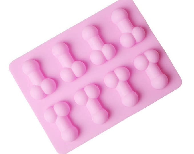 Penis Mold, Dick Mold, Silicone Penis Mold Ice Cube Tray,  Candle Mold, Penis Chocolate Mold, Penis Jello Mold, Dick Jello Mold, Non Stick
