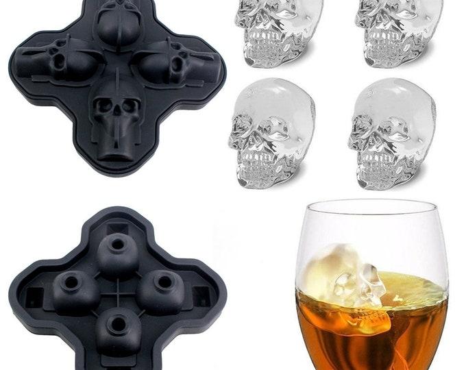 Skull Mold, Silicone Skull Mold, Skull Candle Mold, Skull Chocolate Mold, Skull Candy Mold, Skull Soap Mold, Skull Mold, Halloween Ice Mold