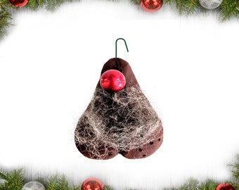 funny gift Reindeer scrotum white elephant party Rudolph/'s Balls Christmas ornament tree decorations naughty nut sack Penis Dick Balls