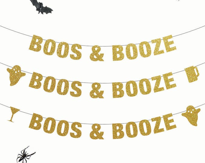 Boos & Booze Banner, Halloween Banner, Halloween Party, Naughty Halloween Party, Boo Banner, Adult Halloween Banner