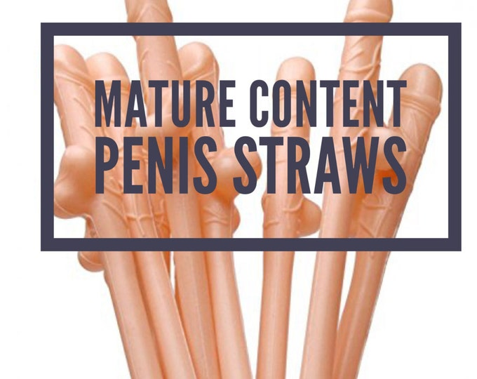 Penis Straws, big D*ck straws, Pink color, Flesh Colored penis straws, dicky straws