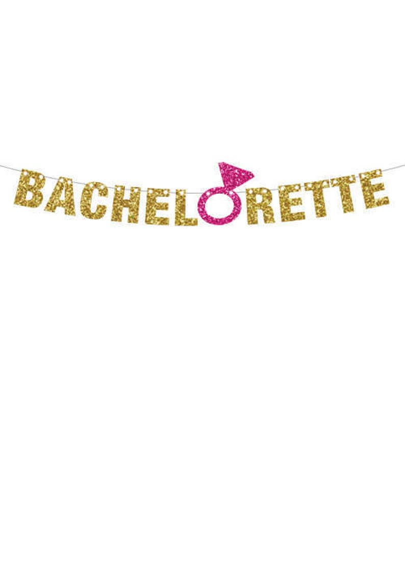 Bachelorette Party Banner Gold Engagement Ring Banner Cruise image 0