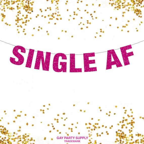 Einzel Af Banner Einzel Af Einzelne Valentine Lustige Etsy