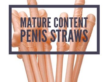Penis Straws, big D*ck straws, Pink color, Flesh Colored penis straws, dicky straws