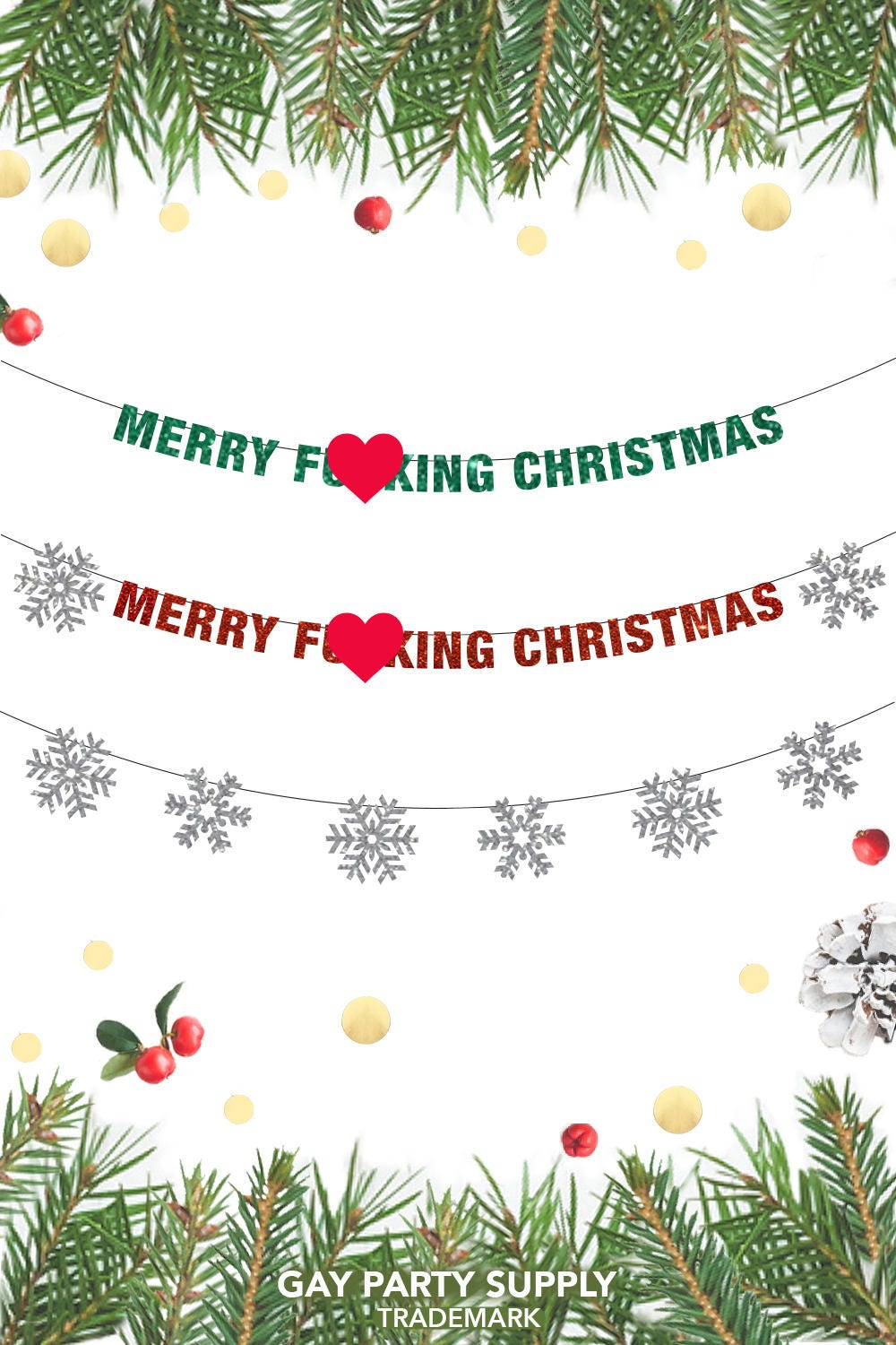 Merry F**king Christmas Banner, Christmas Banner, Christmas Decor ...