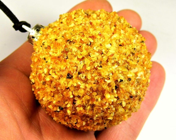 Natural Baltic Amber stone Christmas tree ball decoration Xmas gift genuine authentic FREE SHIPPING 2238