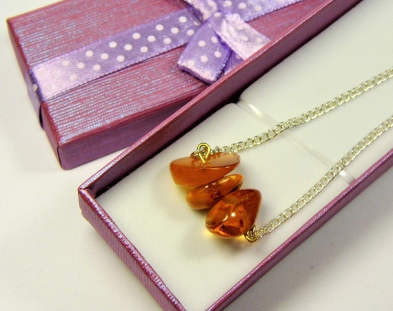 Old Baltic Amber stone natural genuine pendant cognac honey transparent 6.5 gram authentic women's jewelry + gift box FREE SHIPPING 2302