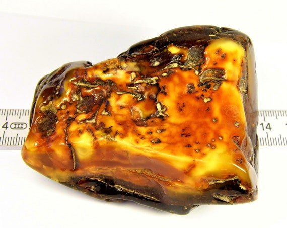 Baltic Amber massive big large natural genuine stone gemstone 103 grams authentic butterscotch / egg yolk / yellow / brown 899a
