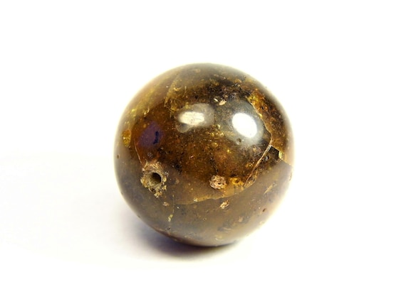Round / driled genuine Baltic Amber ball handmade stone natural 5.7 grams / 22mm real authentic