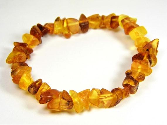 Baltic Amber bracelet natural genuine stones stretchable 10 grams men's / women's / unisex jewelry authentic unique gemstone 1059a