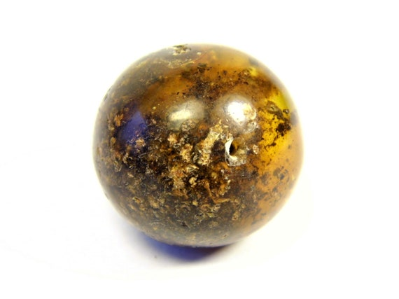 Round / driled genuine Baltic Amber ball handmade stone natural 6.7 grams / 23mm real authentic