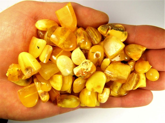 Lot of 82 grams Baltic Amber broken stones old vintage Natural genuine butterscotch egg yolk yellow authentic FREE SHIPPING 2296