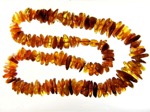 Raw unpolished rough natural genuine Baltic Amber stone necklace authentic 39 grams women's jewelry FREE SHIPPING 788a