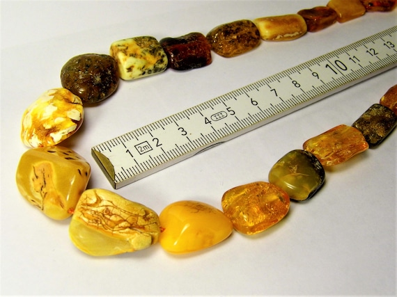 Natural genuine real Baltic Amber stones necklace with insect fossil inclusion authentic 32 grams women's jewelry FREE SHIPPING 758a