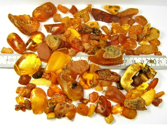Natural Baltic Amber stones 100 grams genuine old vintage retro antique authentic beads lot FREE SHIPPING 2382