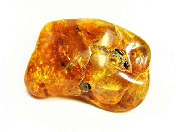 Baltic Amber natural genuine stone gemstone 13 grams authentic brown polished 1043a