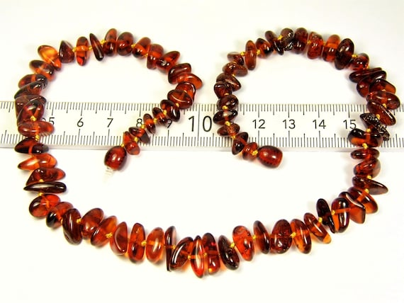 Natural cognac / honey / transparent Baltic Amber genuine gemstone necklace authentic unique women's jewelry 16 grams FREE SHIPPING 3001