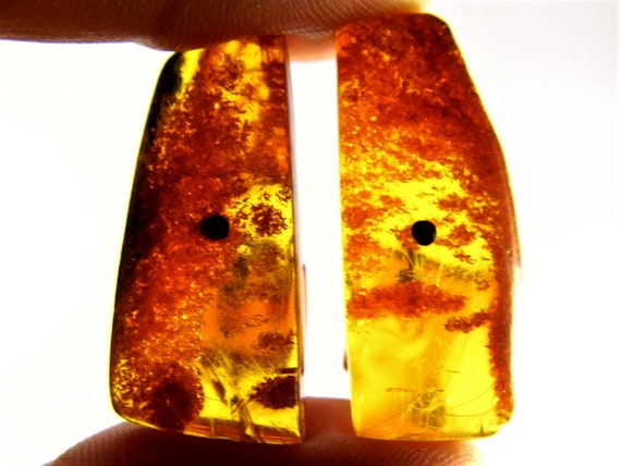 Baltic Amber stone old vintage retro antique cuff-links natural genuine authentic men's jewelry 7.9 grams FREE SHIPPING 1858