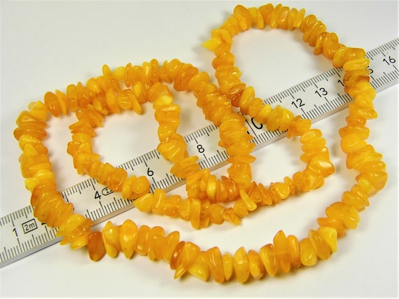Natural butterscotch egg yolk yellow Baltic Amber genuine stone necklace 31 grams / 25.5 inches authentic unique women's jewelry 866a