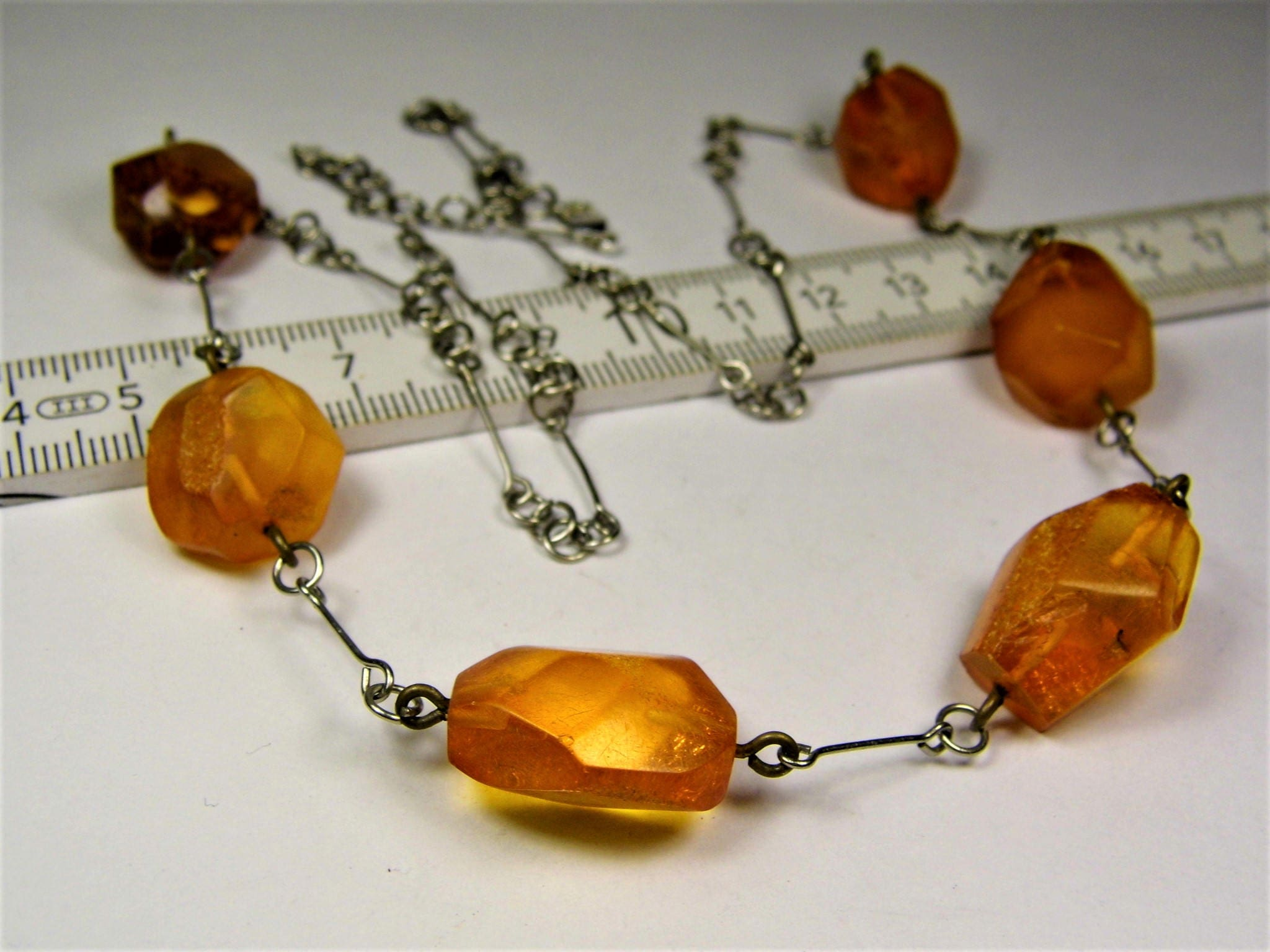 Baltic Amber stone old vintage retro antique unique necklace natural genuine stones authentic women/'s jewelry 26 grams FREE SHIPPING 1834