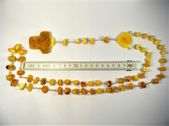Butterscotch egg yolk yellow natural genuine real Baltic Amber stones catholic rosary chaplet authentic unique jewelry 56 gram FREE SHIPPING
