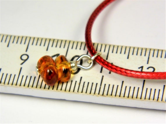 Red thread bracelet with natural genuine Baltic Amber gemstone minimalist authentic women's jewelry FREE SHIPPING 2733
