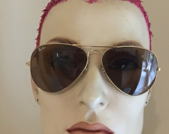 395c3181b2701 Ray Ban Bausch   Lomb vintage aviator sunglasses gold with brown lenses  model 58-14 USA
