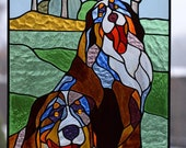 Custom stained glass panels for your photo Pop-art Tiffany method