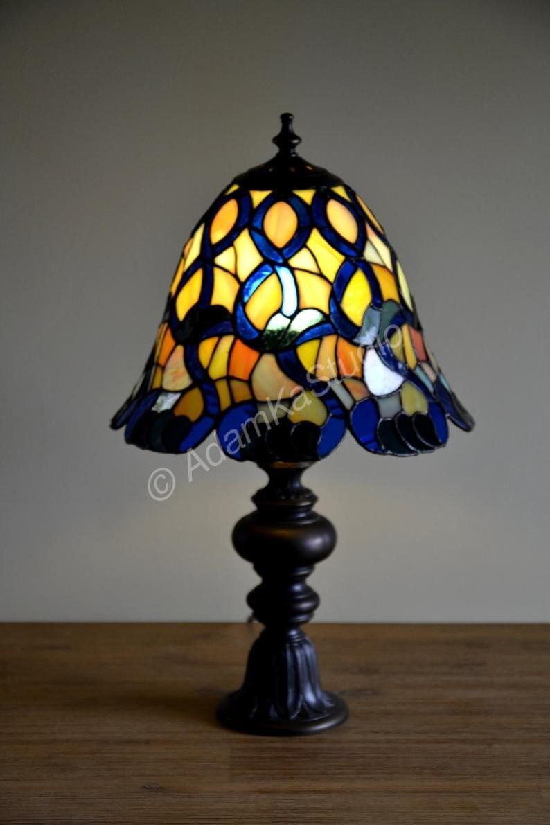 Nuit Tablechambre Tiffany Bureauvitrail Lumières Chevet Petit Oiseau 54j3ARL