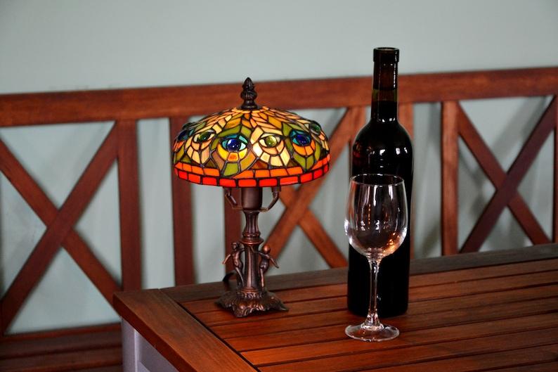 Paon TiffanyLampes Classique Jour ChevetArt Plume De VitrailAbat Lampe Design Vitrail NouveauDu PXikuOZTw
