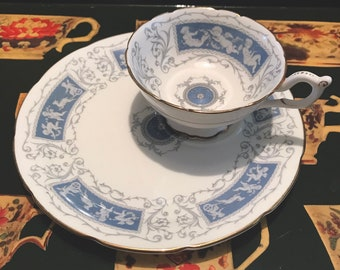 Coalport 'Revelry' Tennis Set, Cup and Saucer/snack plate