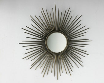 Mirror Sun chaty Vallauris gold Vintage retro France Sixties