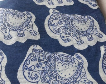 Pure Cotton Fabric in Cambric Quality Hand Block Hand Printed Fabric, Indian cotton fabric_22