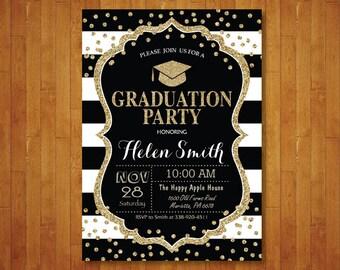 graduation party invitations etsy