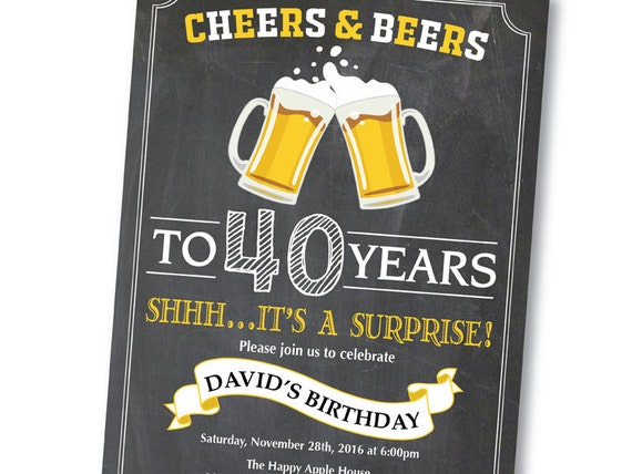 Over 40 40th Birthday Invitations Image 0