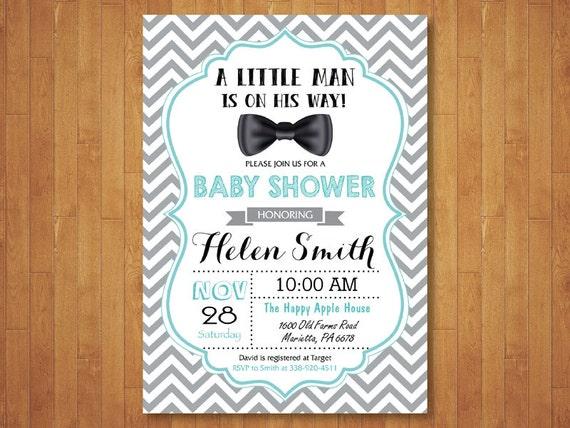 Bow tie baby shower invitation bowtie invitation boy baby etsy image 0 filmwisefo