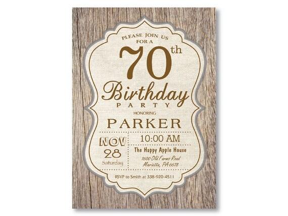 Invitación Del Cumpleaños Número 90 Madera Rústica Vintage Cumpleaños De Hombre Cumpleaños Masculino 80 70 60 50 40 30 De Cualquier Edad Digital