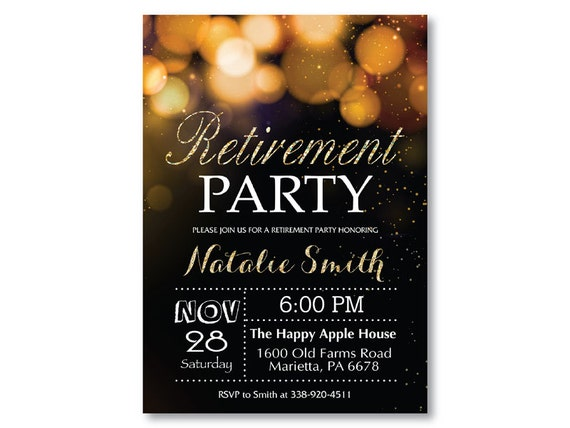 Persnickety image with free printable retirement party invitations